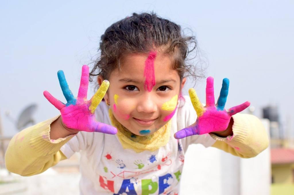 child, colors, nepal